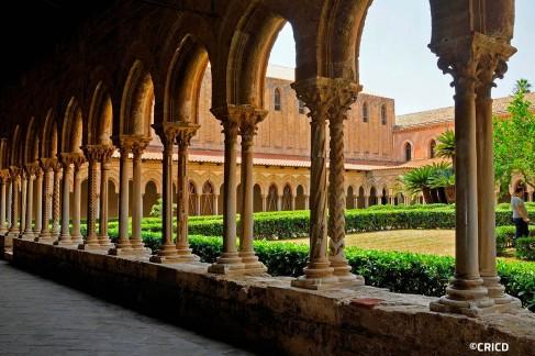 le colonne del chiostro della Cattedrale di Monreale