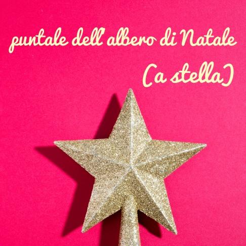 puntale dell'albero di Natale (a stella)